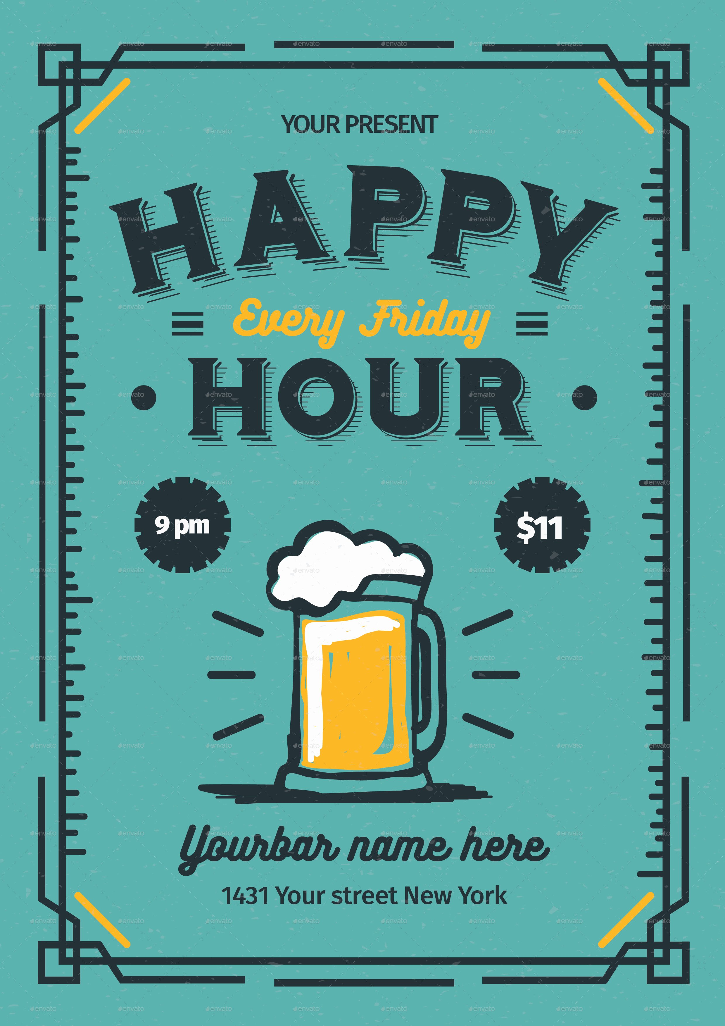 Happy Hour Menu Template Awesome Happy Hour Flyer by Lilynthesweetpea