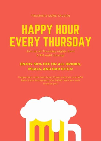 Happy Hour Menu Template Best Of Customize 36 Happy Hour Flyer Templates Online Canva