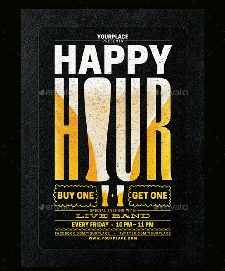 Happy Hour Menu Template Luxury 14 Happy Hour Menu Designs & Templates Psd Ai