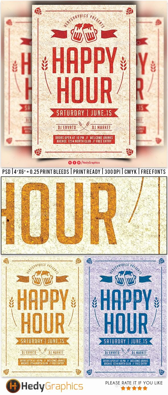 Happy Hour Menu Template New Pin by Best Graphic Design On Flyer Templates