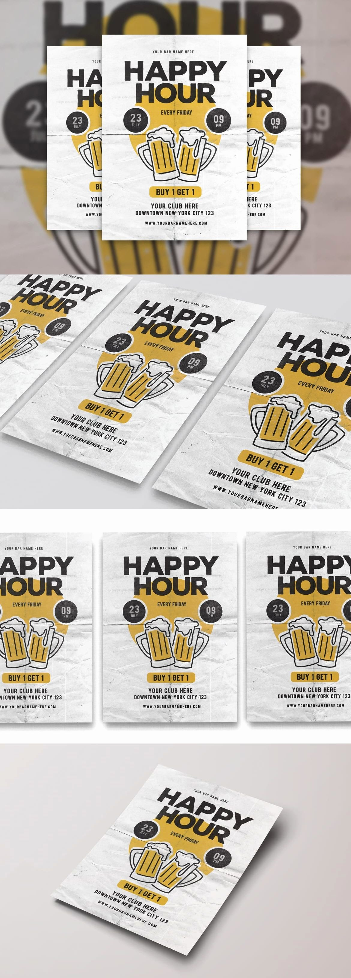 Happy Hour Menu Template Unique Happy Hour Flyer Design Template Psd Flyer Templates