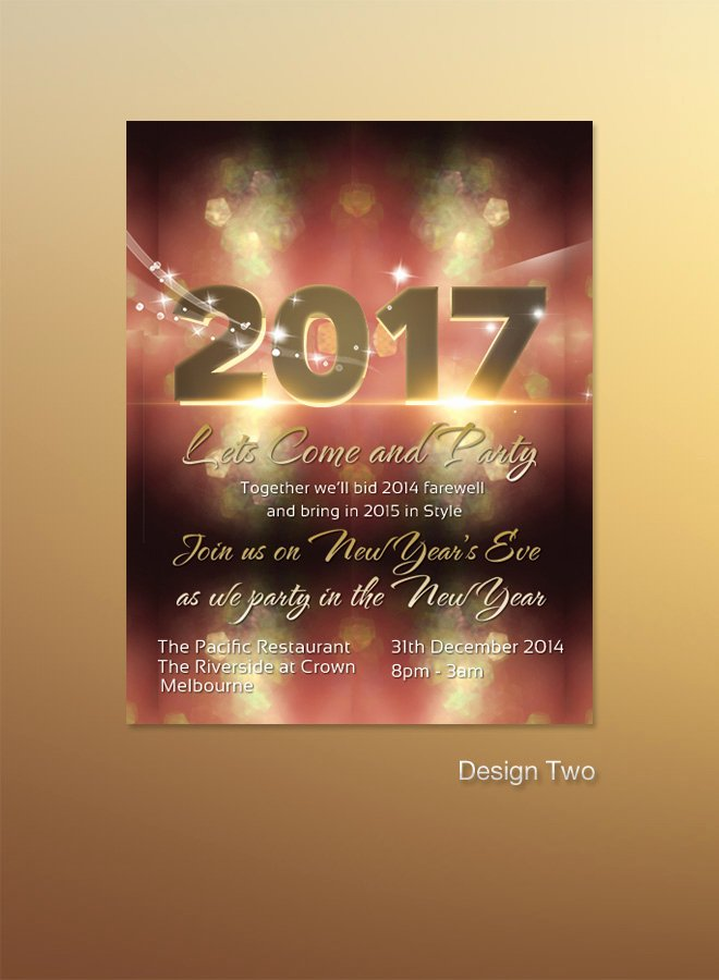 Happy New Year Email Template Beautiful 2017 New Years Invitation Flyer Bokeh Texture Light Bokeh