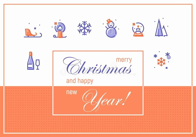 Happy New Year Email Template Beautiful Merry Christmas and Happy New Year Greeting Cards