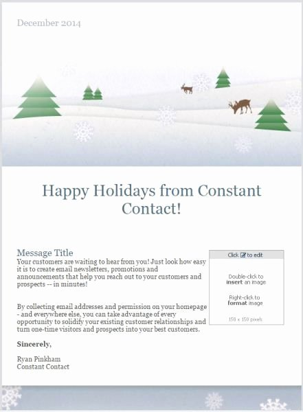 Happy New Year Email Template Best Of 10 Holiday Email Templates for Small Businesses