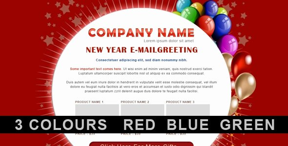 Happy New Year Email Template Luxury Free and Premium Christmas HTML Email Newsletter Templates