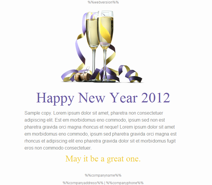 Happy New Year Email Template Luxury Happy Holidays Email Templates for New Year 2013