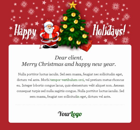 Happy New Year Email Template New 17 Beautifully Designed Christmas Email Templates for