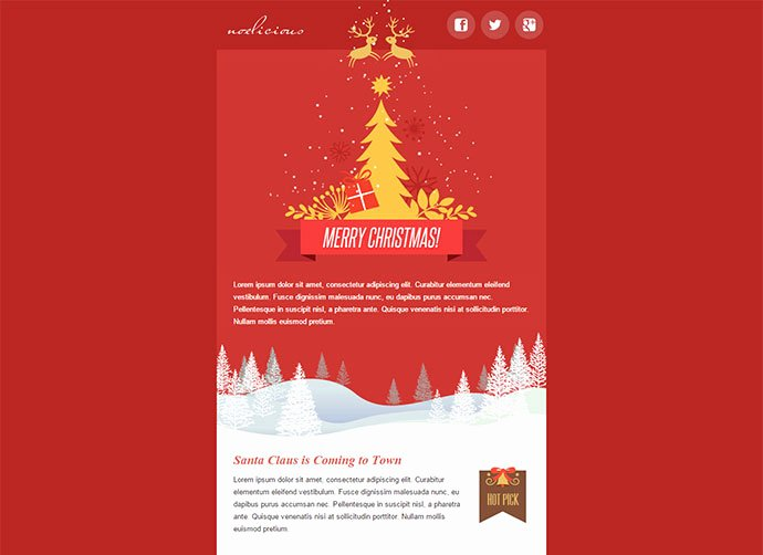 Happy New Year Email Template New 20 Wonderful Christmas & New Year Email Templates