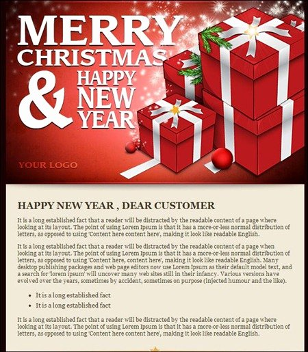 Happy New Year Email Template New New Year Wishes Email Template – Happy New Year 2019
