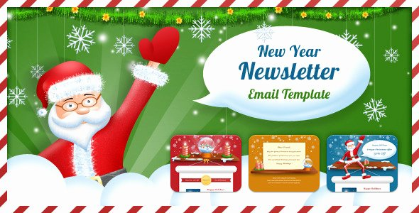 Happy New Years Email Template Elegant 20 Best New Year Newsletter Templates 2014 Designmaz