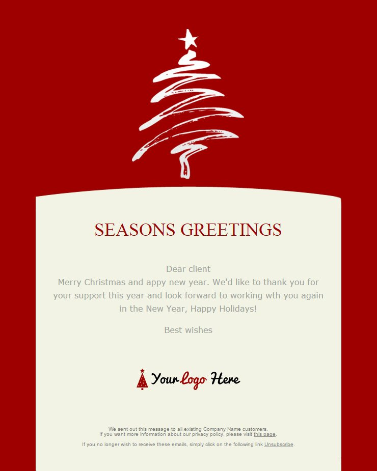 Happy New Years Email Template Lovely 104 20 Free Christmas and New Year Email Templates