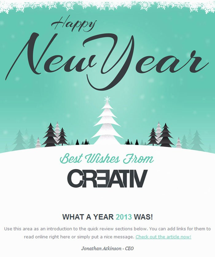 Happy New Years Email Template Luxury 10 Premium and Best HTML Email Templates