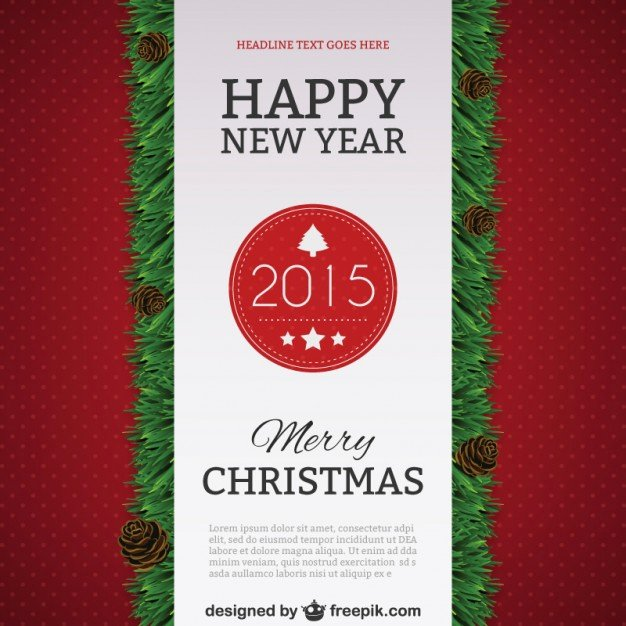 Happy New Years Email Template New Happy New Year 2015 Poster Template Vector