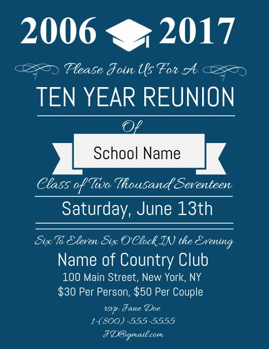 High School Reunion Flyer Awesome High School Reunion Flyer Template