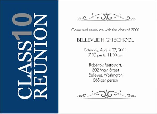 High School Reunion Flyer Best Of 15 Reunion Invitation Templates Psd Ai