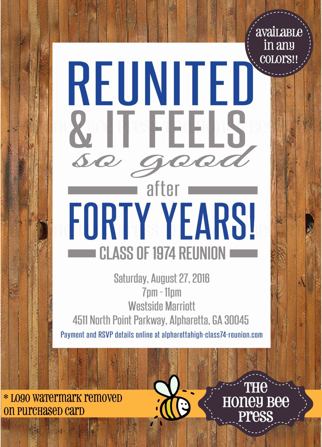 High School Reunion Flyer Elegant Reunited and It Feels so Good Reunion Invitation High School