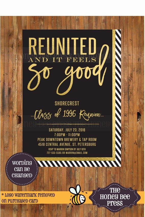 high school reunion invitation reunited