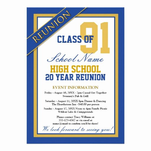 "High School Reunion Flyer Lovely Classy formal High School Reunion 5"" X 7"" Invitation Card"