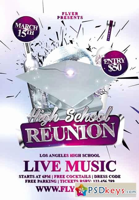 High School Reunion Flyer Lovely High School Reunion Premium Flyer Template Free Download Shop Vector Stock Image Via