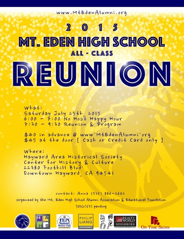 High School Reunion Flyer Lovely who Out there is Mt Eden High School Alumni
