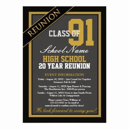 High School Reunion Flyer Luxury Classy formal High School Reunion 5x7 Paper Invitation Card