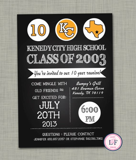 High School Reunion Flyer Luxury Items Similar to High School Reunion Invite High School Reunion Invitation 10 Year High School