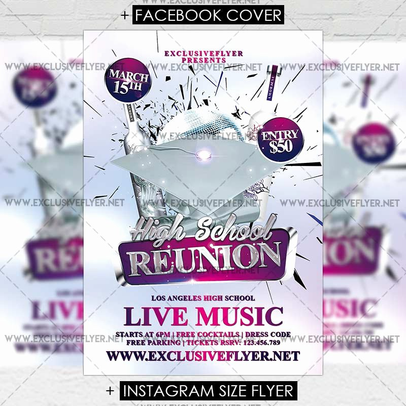 High School Reunion Flyer New High School Reunion – Premium Flyer Template Exclsiveflyer