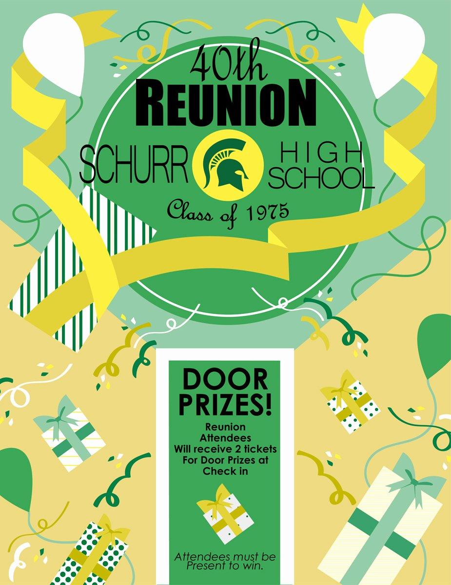 High School Reunion Flyer New Schurr High School Reunion Flyer Vector Art and Color