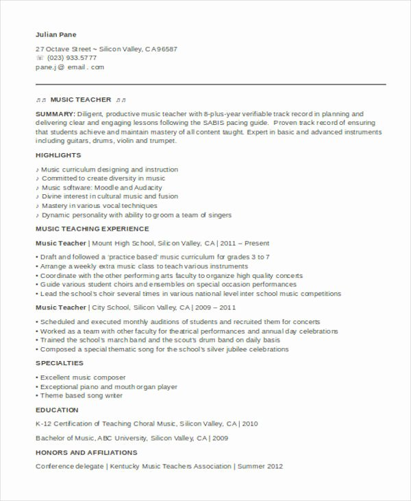 High School Teacher Resume Beautiful 35 Printable Teacher Resume Templates