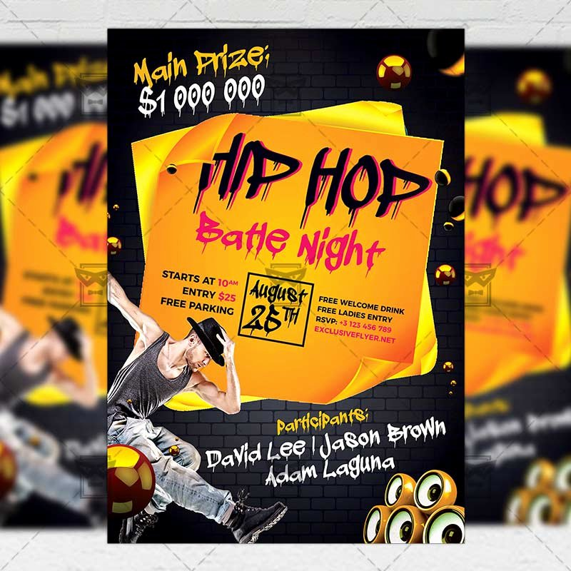 Hip Hop Flyer Templates Best Of Hip Hop Night – Club A5 Flyer Template Exclsiveflyer
