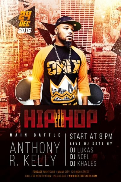 Hip Hop Flyer Templates Elegant Hip Hop Battle Free Flyer Template Download Club and Party Flyer for Shop