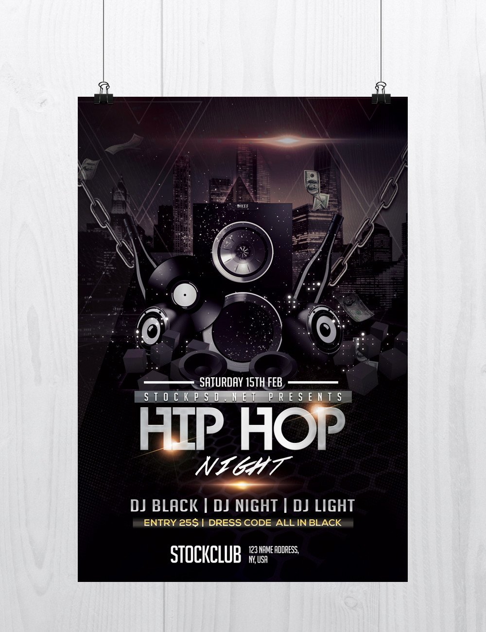 Hip Hop Flyer Templates Elegant Hip Hop Music Download Free Psd Flyer Template Free Psd Flyer Templates Brochures Mockup