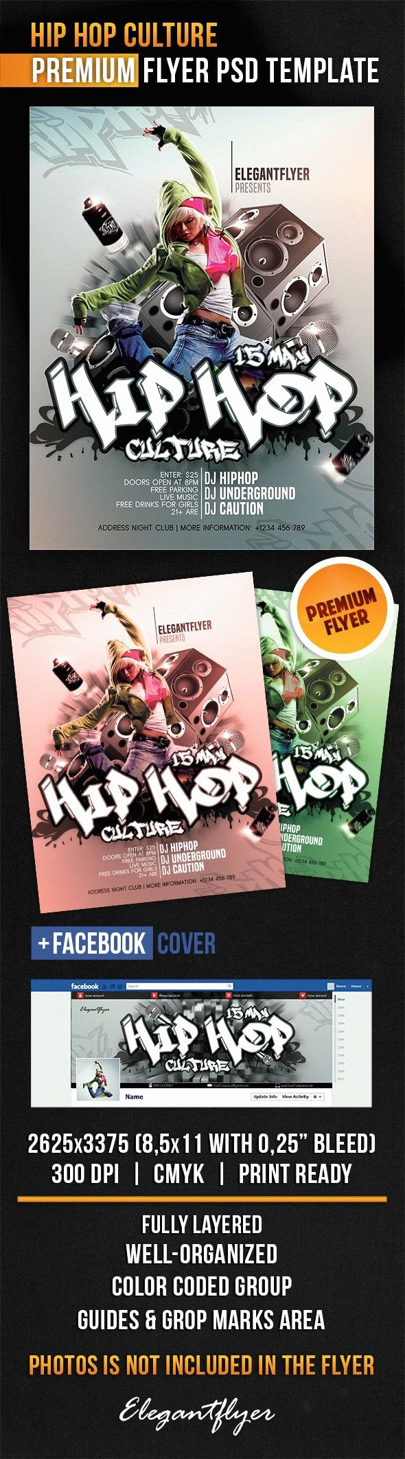 Hip Hop Flyer Templates Fresh Hip Hop Culture Flyer Psd Template Cover