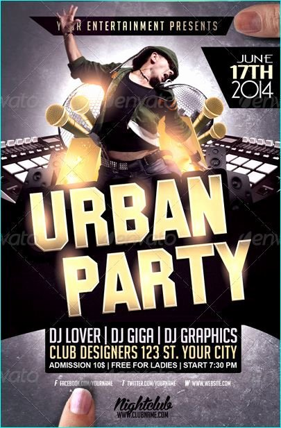 Hip Hop Flyer Templates Fresh Urban Hip Hop Party Flyer Template Party Flyer Templates for Clubs Business & Marketing