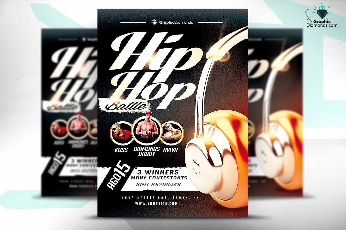 Hip Hop Flyer Templates Lovely Hip Hop Battle Flyer Psd Flyer Templates Creative Market