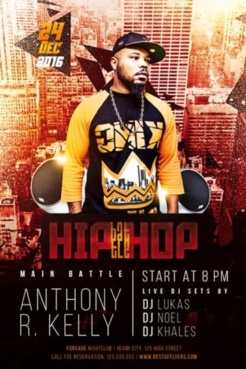 Hip Hop Flyer Templates New Download Free Hip Hop Flyer Psd Templates for Shop
