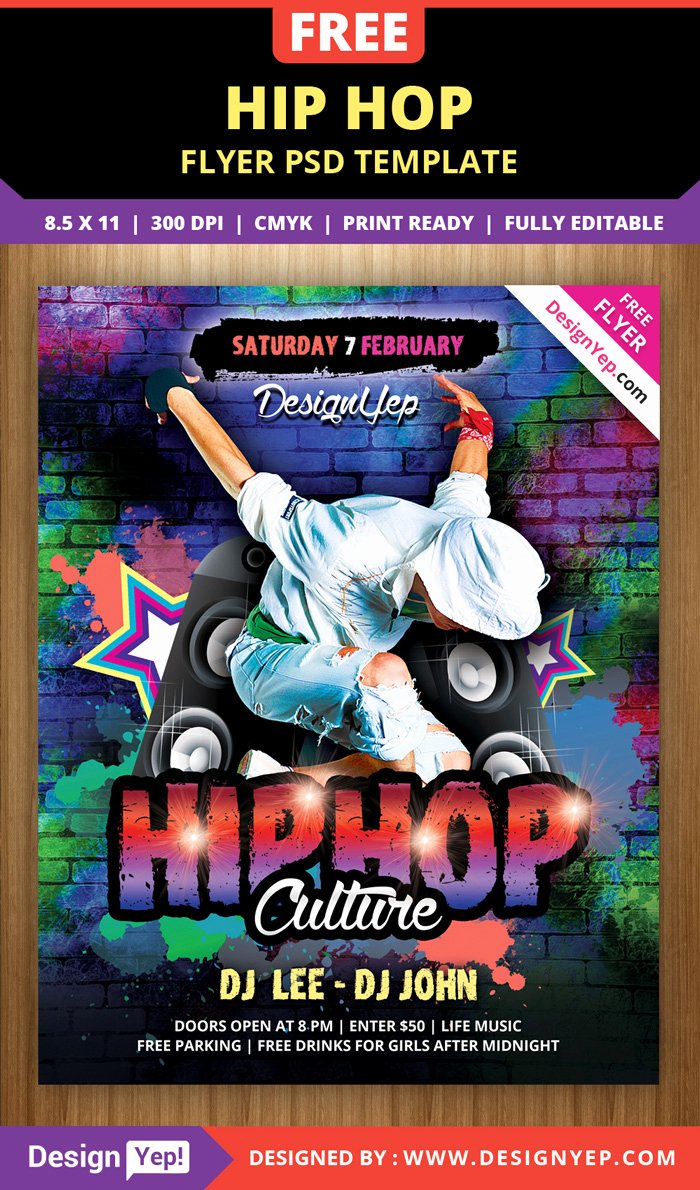 Hip Hop Flyers Templates Awesome 55 Free Party & event Flyer Psd Templates Designyep