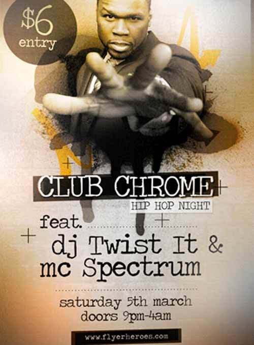 Hip Hop Flyers Templates Awesome Download the Chrome Nightclub Free Hip Hop Flyer Template