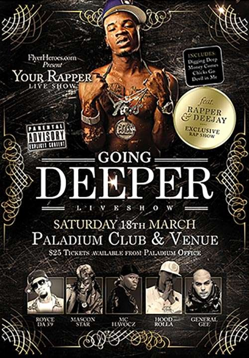 Hip Hop Flyers Templates Best Of Going Deeper Free Hip Hop Psd Flyer Template Free Flyer Club Design