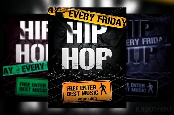 Hip Hop Flyers Templates Best Of Hip Hop Flyer Flyer Templates On Creative Market