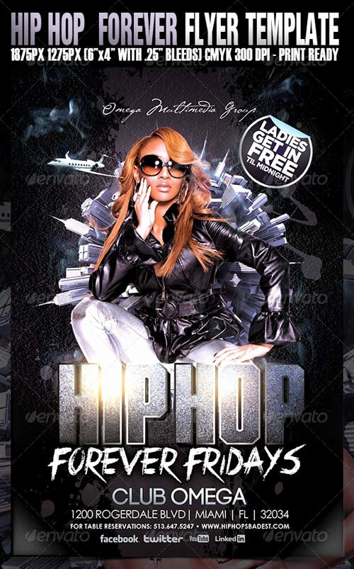 Hip Hop Flyers Templates Fresh Graphicriver Hip Hop forever Party Flyer