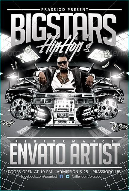 Hip Hop Flyers Templates Fresh Hip Hop Flyer Template Party Flyer Templates for Clubs Business & Marketing