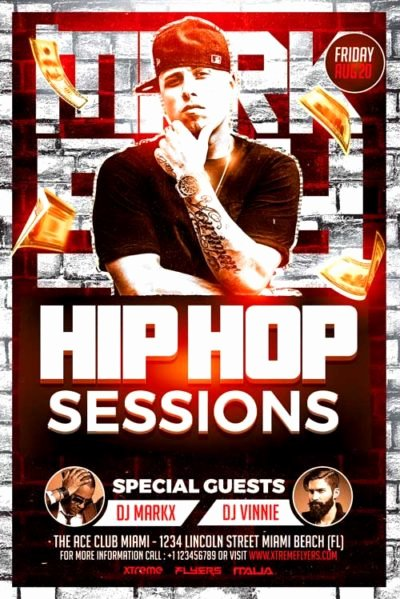 Hip Hop Flyers Templates Fresh Xtremeflyers Hip Hop Flyer Templates