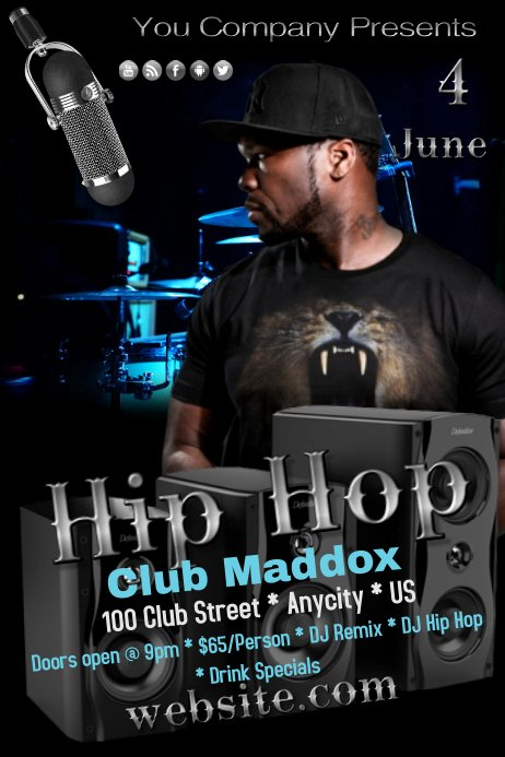 Hip Hop Flyers Templates Lovely Hip Hop Template