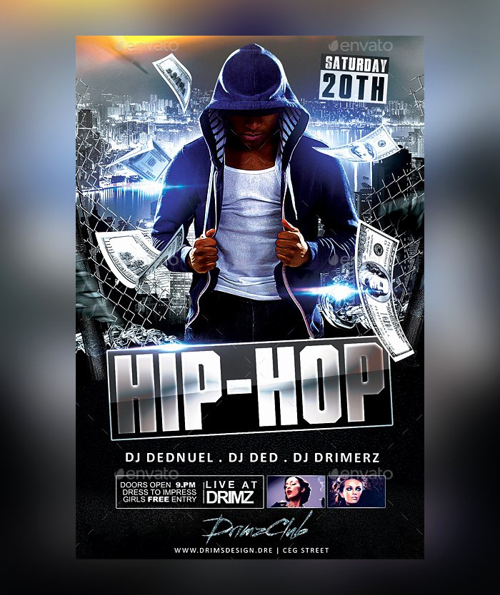 Hip Hop Flyers Templates New 28 Hip Hop Flyer Psd Templates Free & Premium Designyep