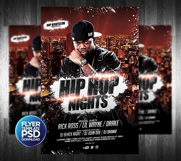 Hip Hop Flyers Templates New Hip Hop Flyer Psd Template by Grandelelo On Deviantart