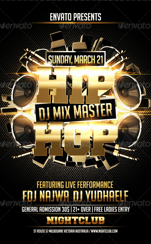 Hip Hop Flyers Templates Unique Hip Hop Flyer Template Party Flyer Templates for Clubs Business & Marketing