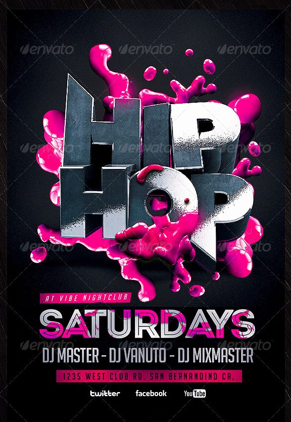 Hip Hop Party Flyer Awesome Hip Hop Flyer Template Party Flyer Templates for Clubs Business & Marketing