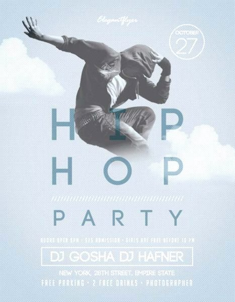 Hip Hop Party Flyer Elegant Hip Hop Party Free Flyer Template Download for Shop
