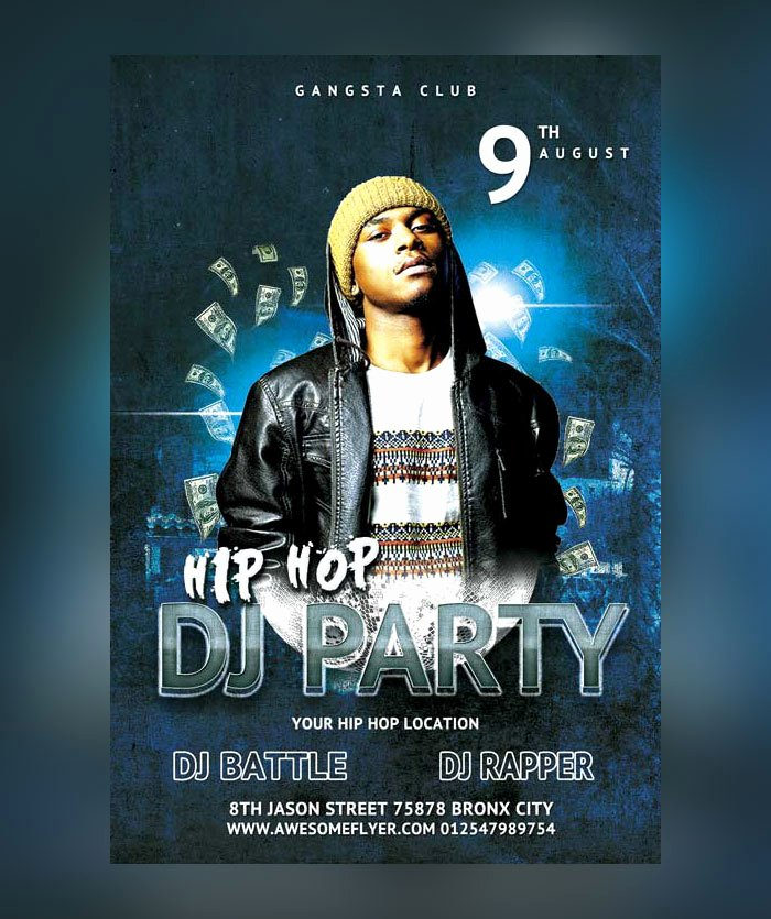 Hip Hop Party Flyer Fresh 28 Hip Hop Flyer Psd Templates Free & Premium Designyep